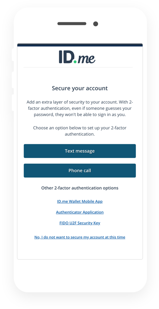Secure your account with two-factor authentication (2FA). It helps to make sure that no one but you can access your account.